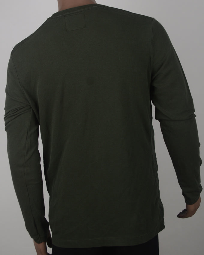 Plain Green Sweater - Large