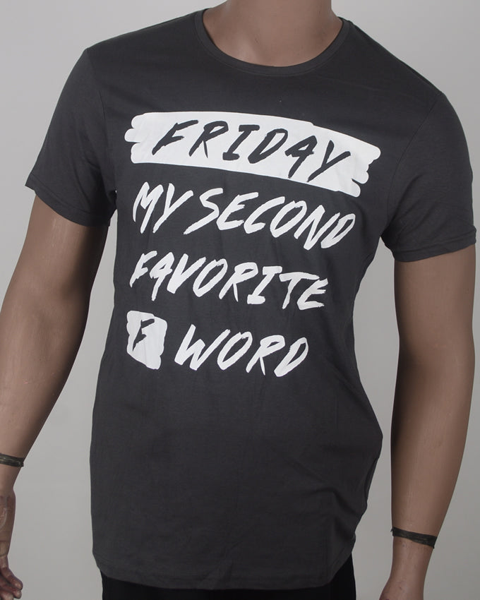 Friday Print T-shirt - Medium