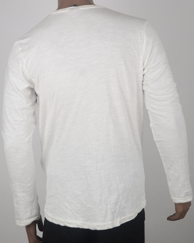 Cream Long Sleeve T-shirt - Medium