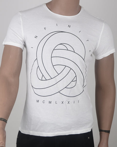 Infinite Print T-shirt  - Small
