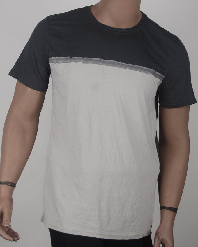 Dark and light Grey Print - XL