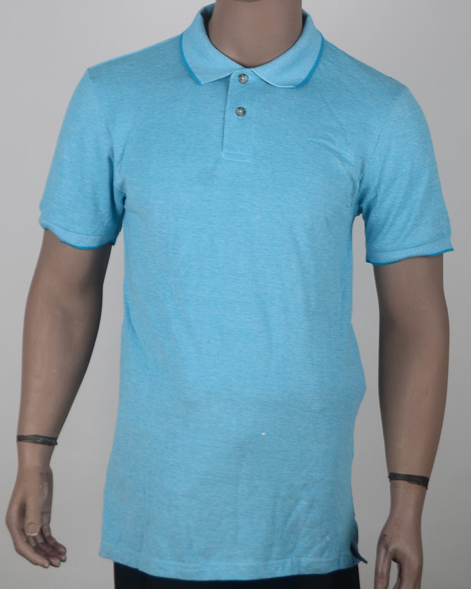 Plain Light Blue Polo - XL