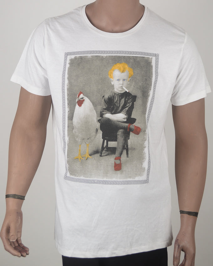 Yellow Hair and Chicken T-shirt - XL