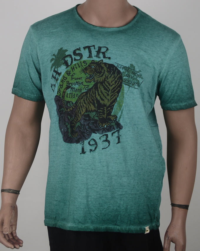 DSTR PRINT Green T-shirt - XL
