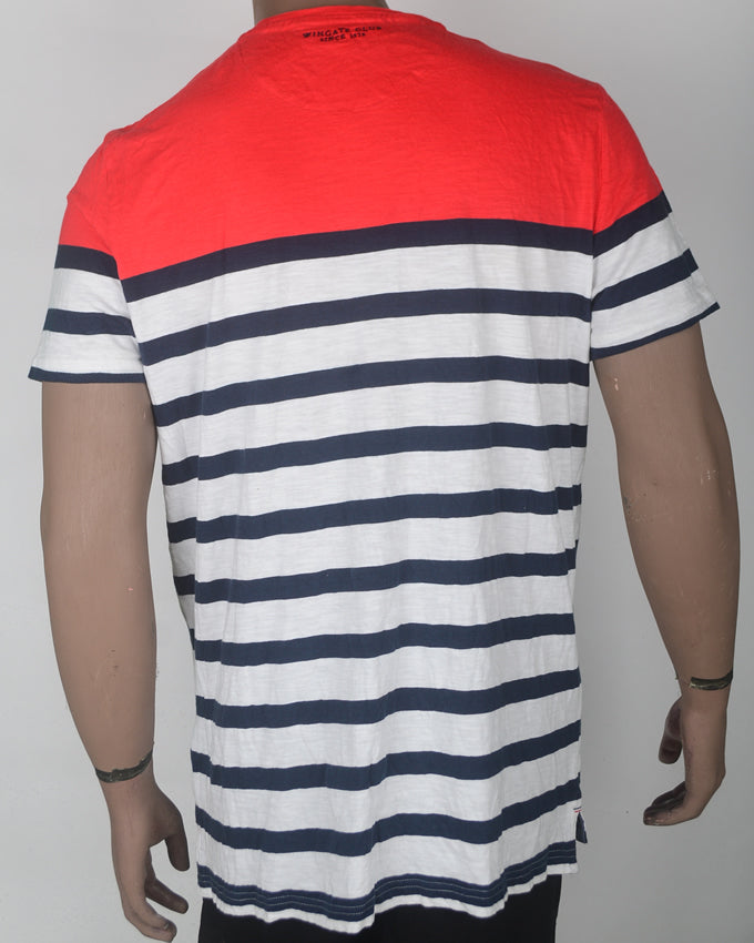 Red with Blue Stripes  - XL