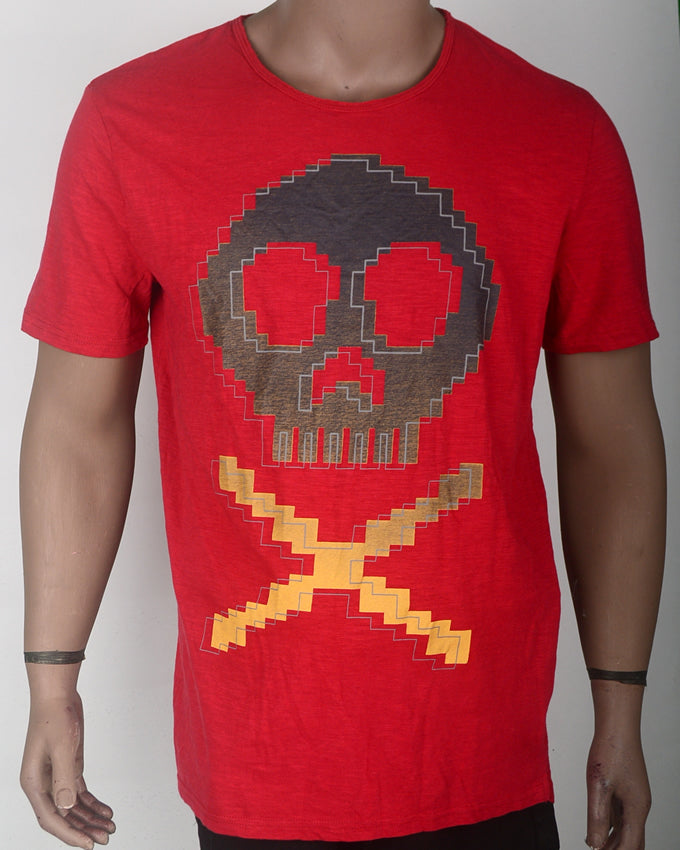 Skull T-shirt Red - XL