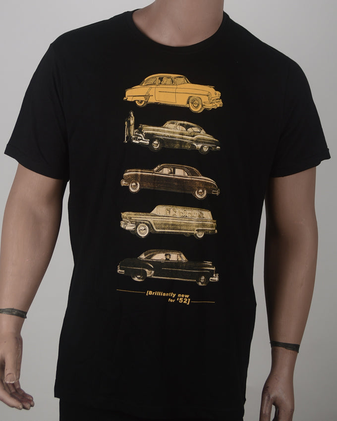 Old School Cars Print T-shirt - XL