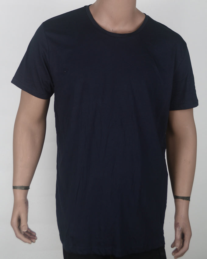 Plain Blue long fit  - XL