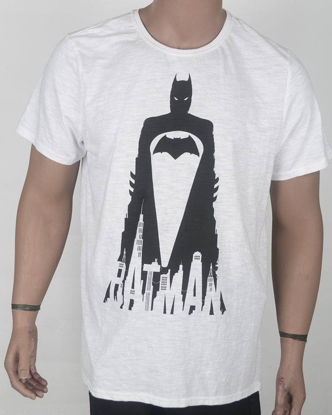 White Batman T-shirt - XL