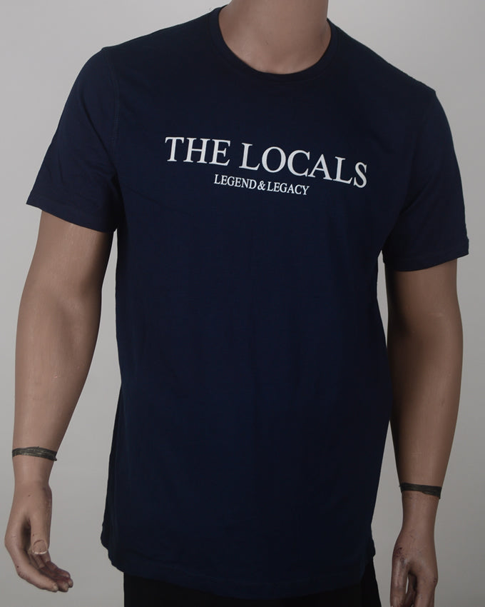 The Locals Print Blue T-shirt - XL