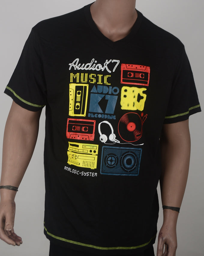 Audio 7 K Print T-shirt  - XL
