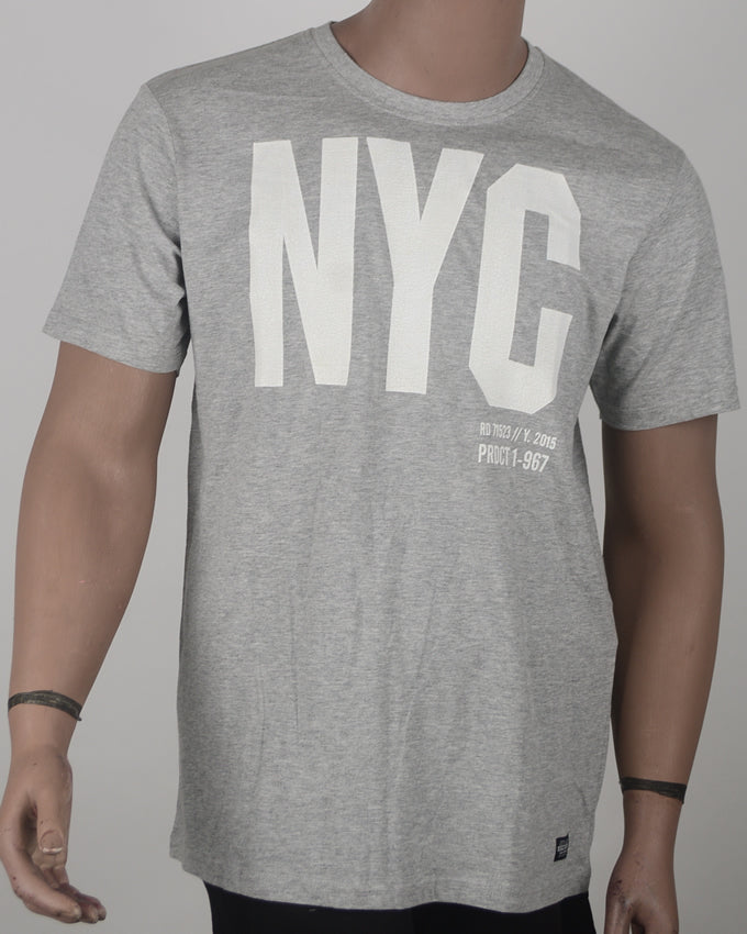 NYC Print Grey T-shirt  - XL
