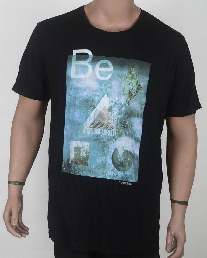 Be Black Print T-shirt - XXL