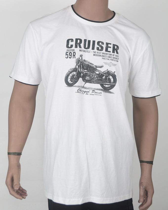 Cruiser White T-shirt - XXL