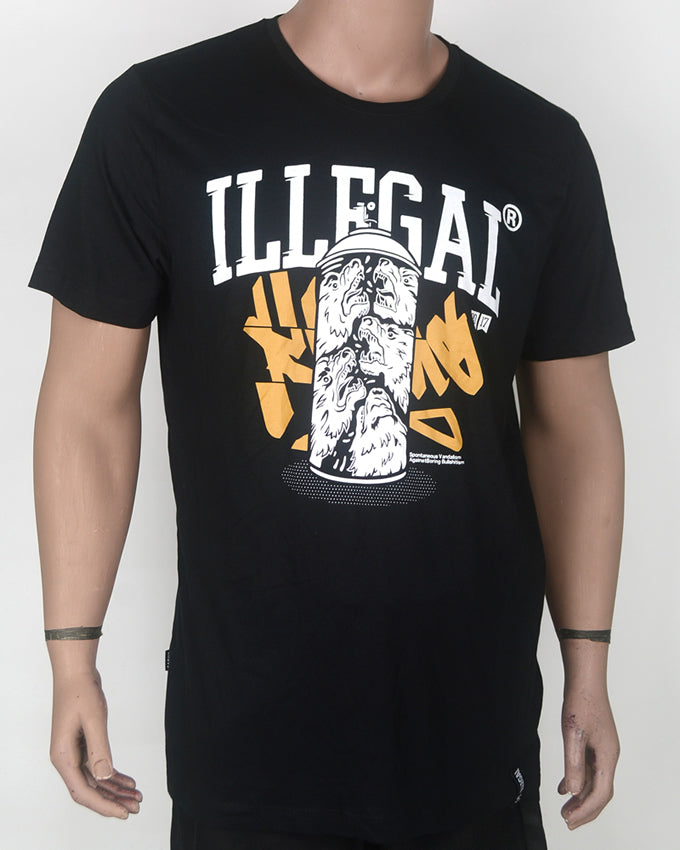 Illegal Print Black T-shirt