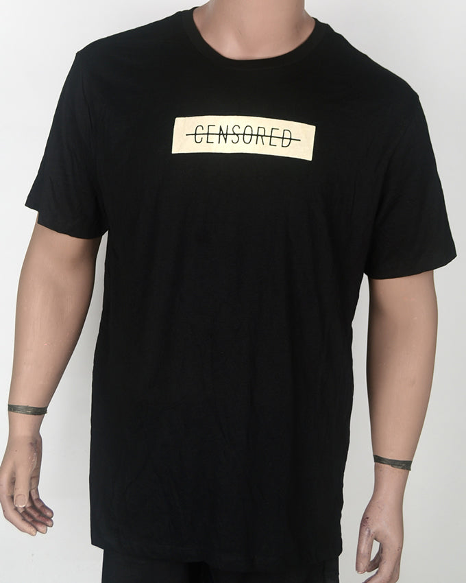 Censored Print T-shirt - XL