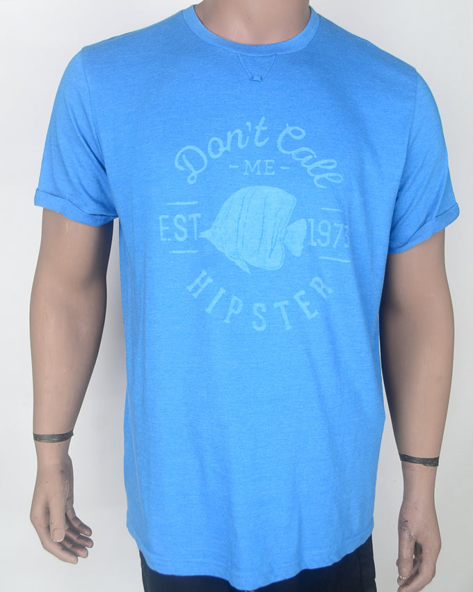 Don't Call Me Light Blue T-shirt- XL