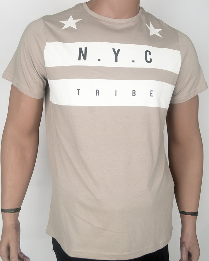 NYC Tribe Light Brown T-shirt - Large