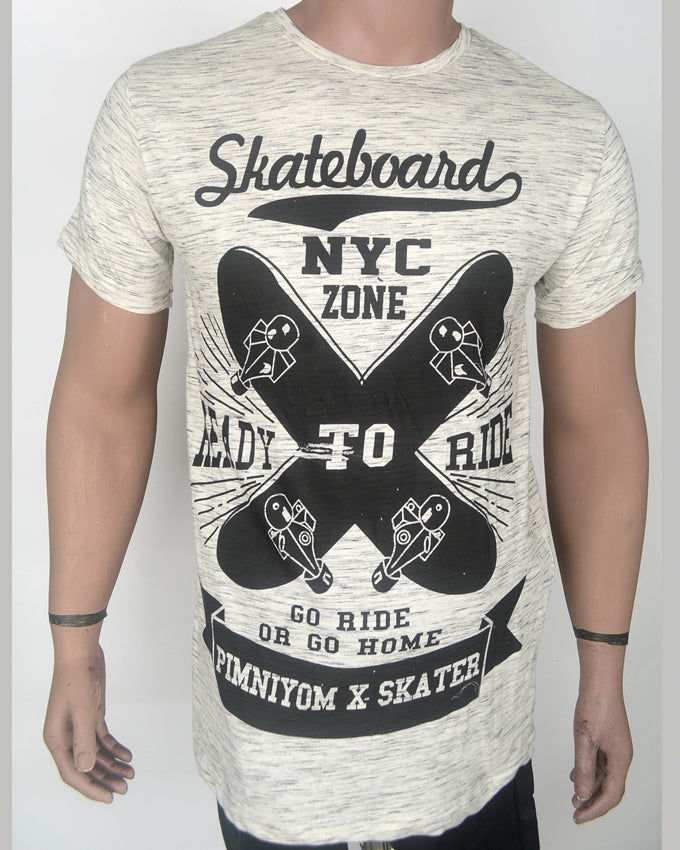 Skateboard NYC Grey T-shirt - Medium