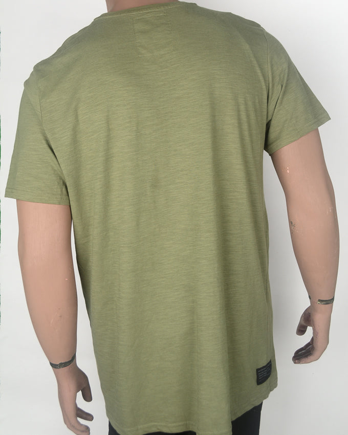 Geometrical Print Green T-shirt - XXL