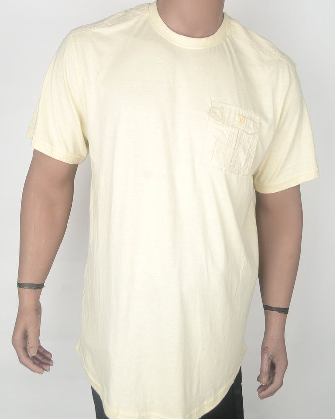 Plain Yellow With Pocket T-shirt - XXL
