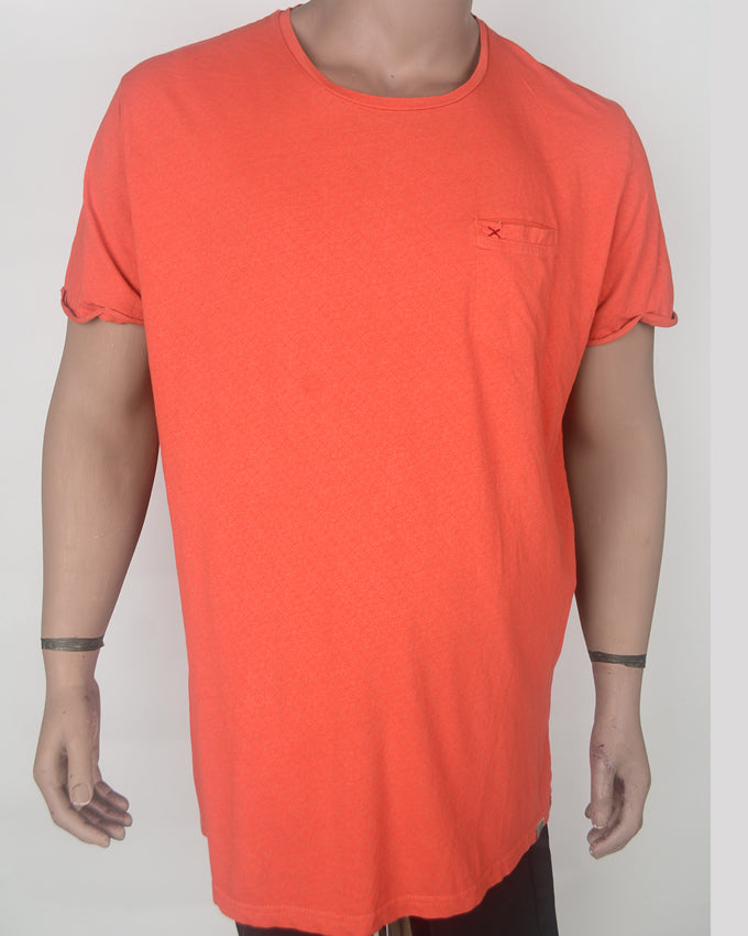 Plain Orange with Pocket T-shirt - XXL