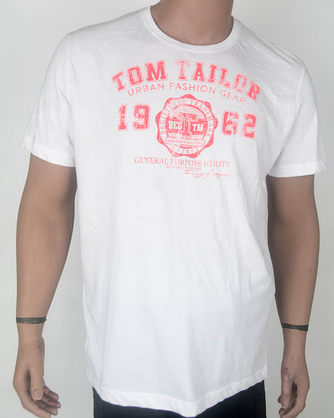 Tom Tailor Print White T-shirt - XL