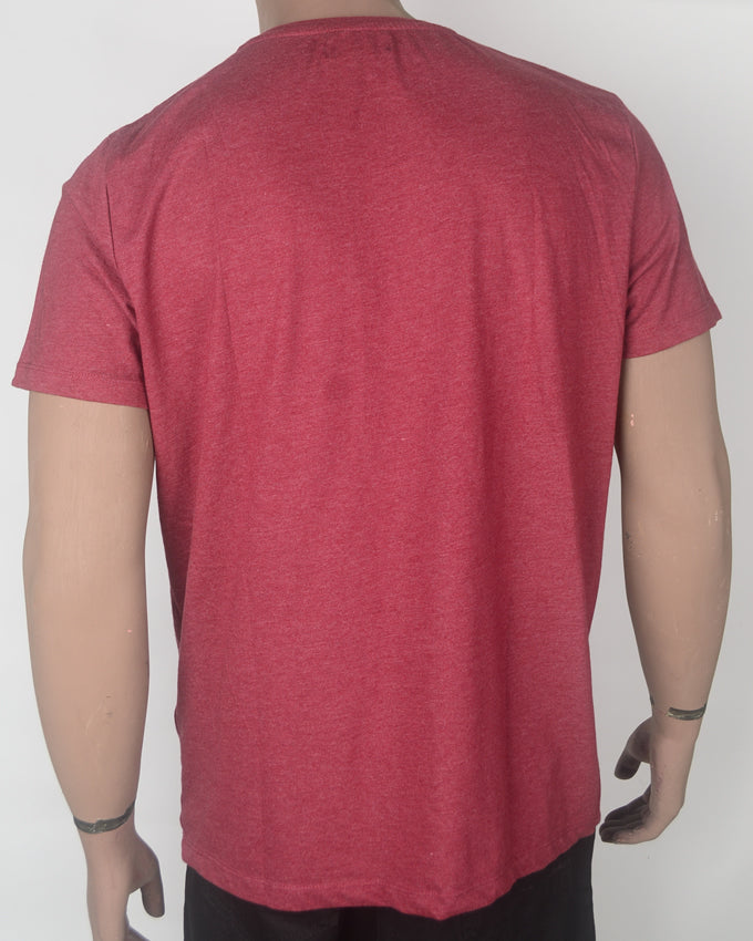 Never Stay Down - Maroon T-shirt - XL