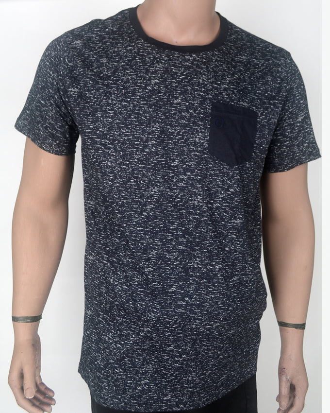 Whitewashed Black with Black Pocket - XL