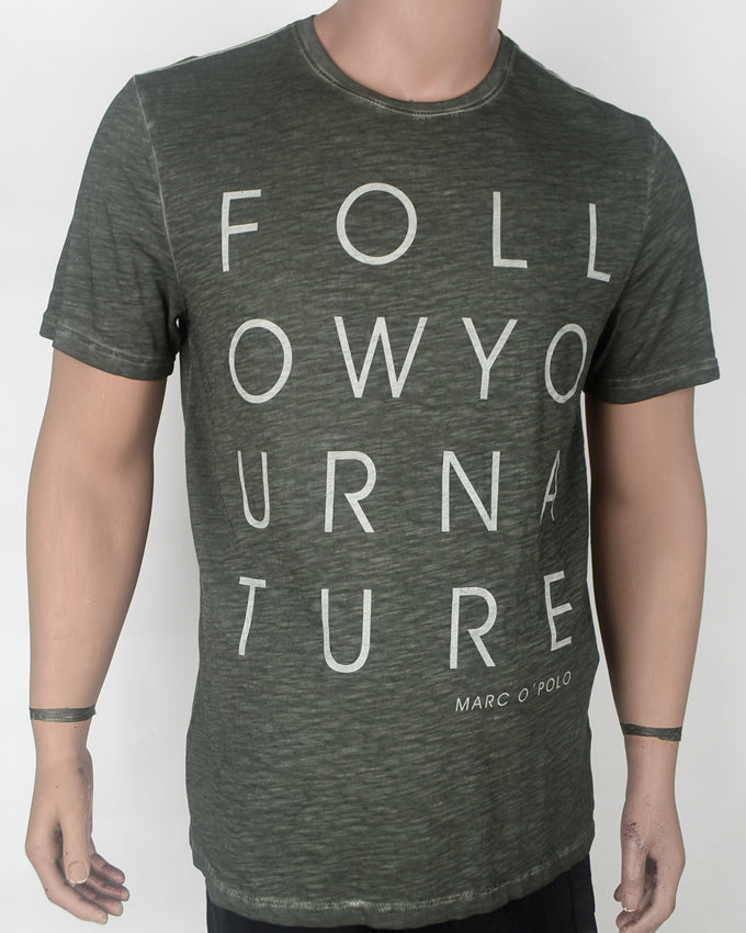 Follow Your Nature Grey T-shirt - XL