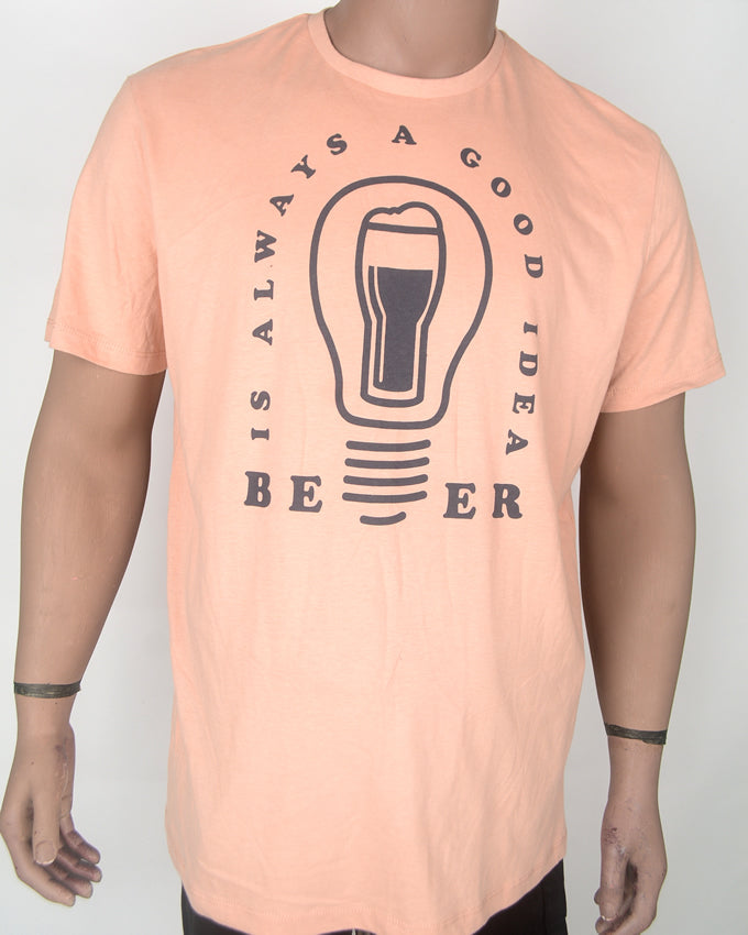 Beer is Always Good - Beige T-shirt - XL
