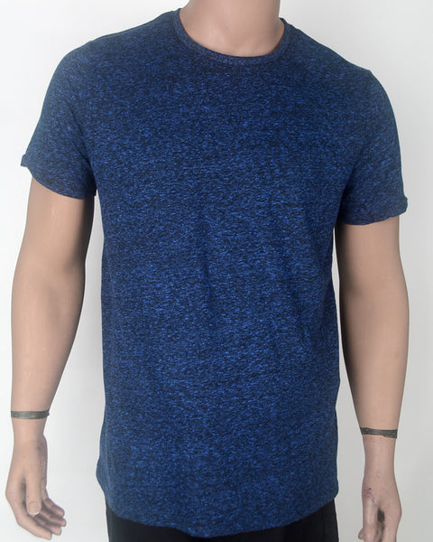 Plain Blue Denim look T-shirt - XL