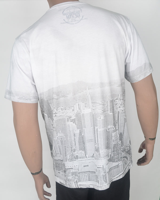 SN FRAN City View T-shirt - White - XL