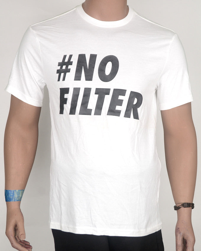 No Filter Print White T-Shirt - Large