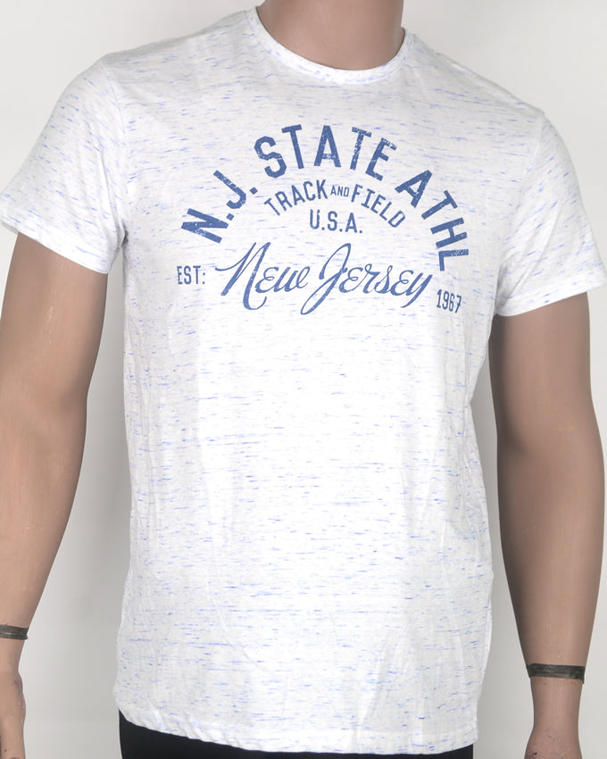 NJ State Athletics White T-shirt - Medium