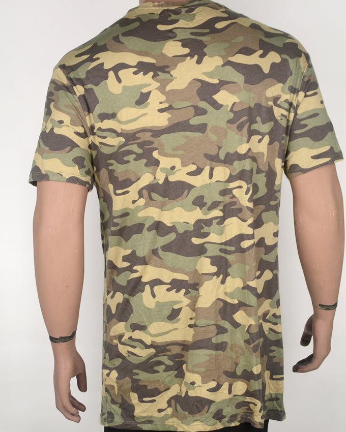 Afraid Of Nothing Camo T-shirt - XL