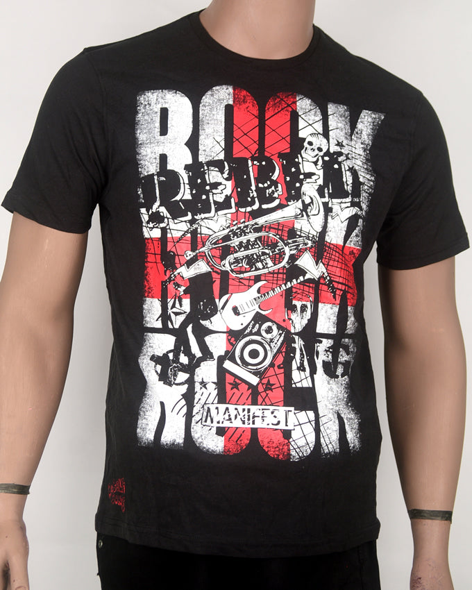 Rock Rebel Black T-shirt - Medium