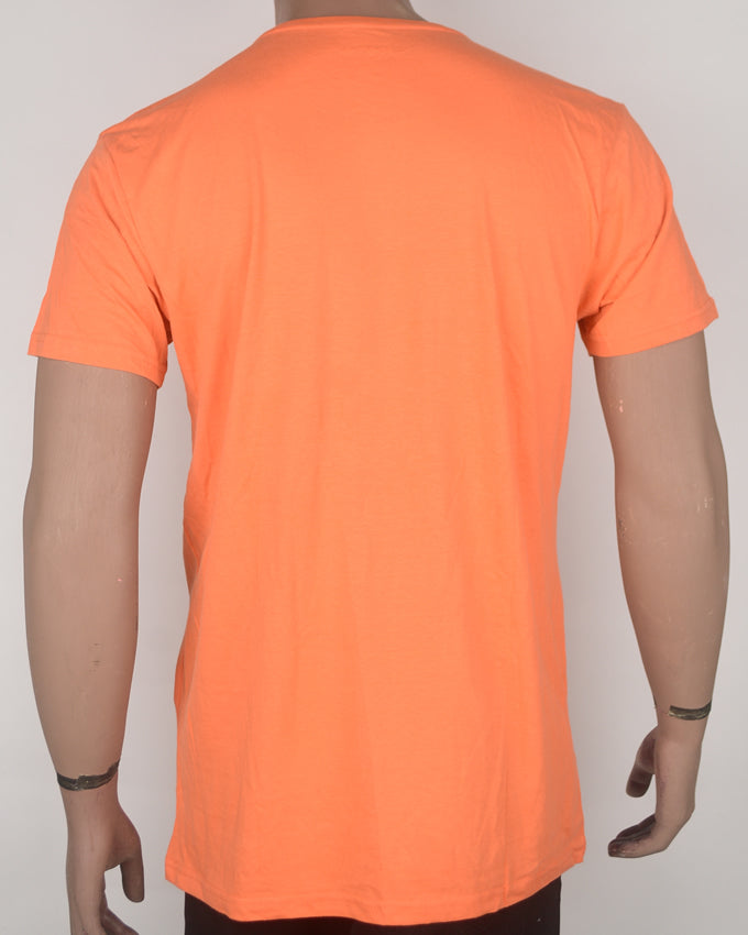 Stay Salty Print Orange  T-shirt - XL