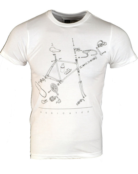 Bicycle Parts - T-shirt - Small