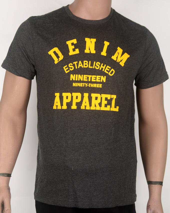 Denim Apparel Print Grey T-shirt - Medium