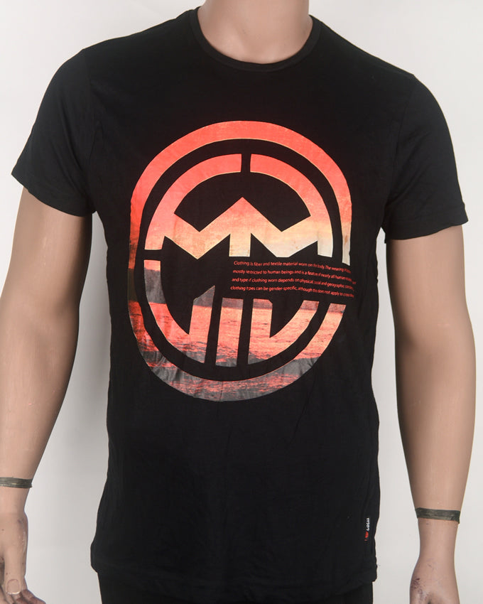 Double MM Print Black T-shirt - Medium