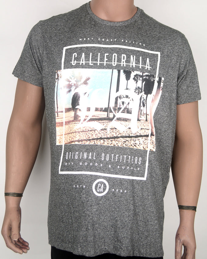 California Original Print Grey T-shirt - XL