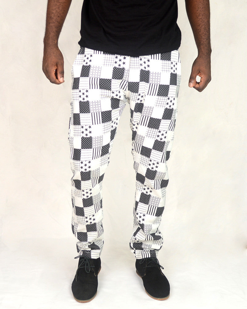 Patterned White Stars Pants