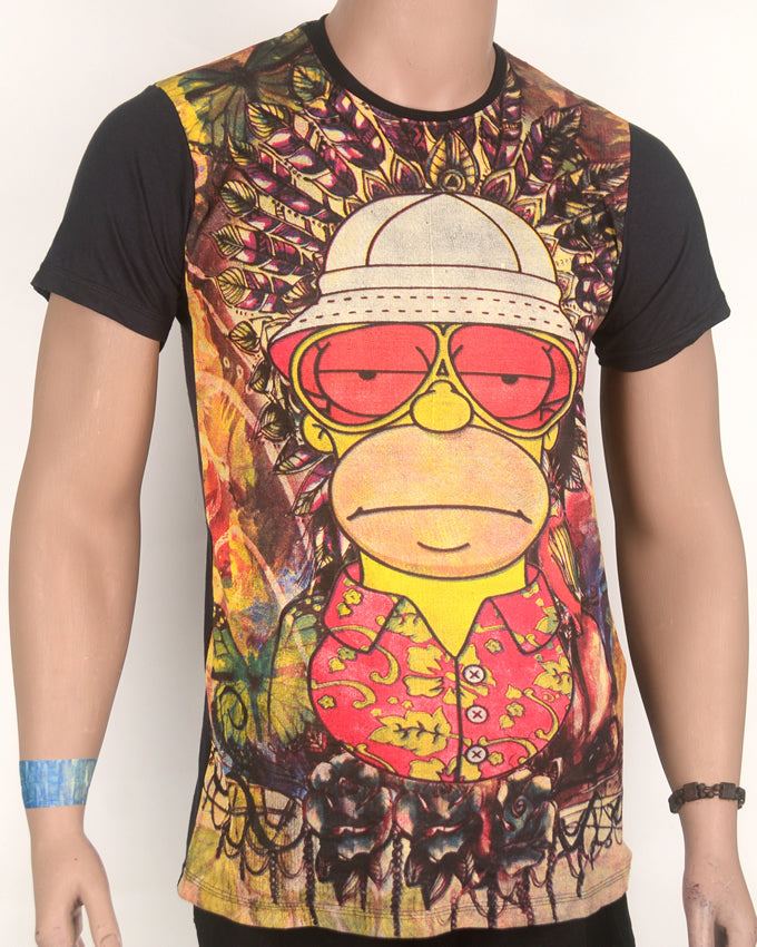 Homer Simpson Safari Multi-color T-shirt - Medium