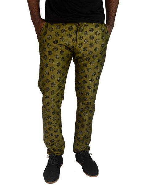 Patterned Green Dots Pants