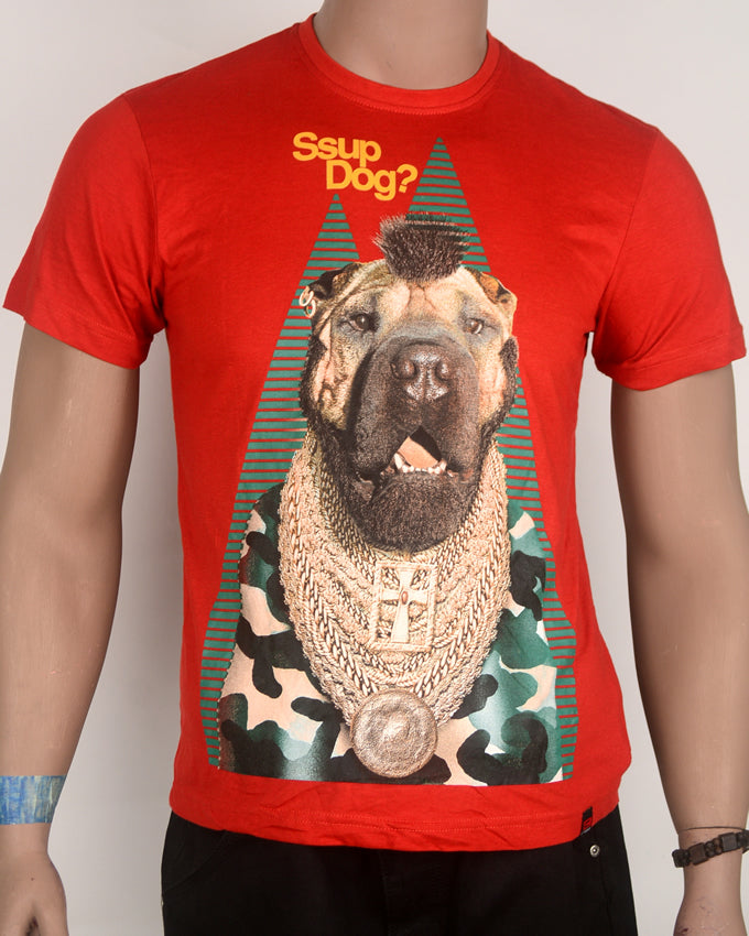 Sup Dog? Red - T-shirt - Small