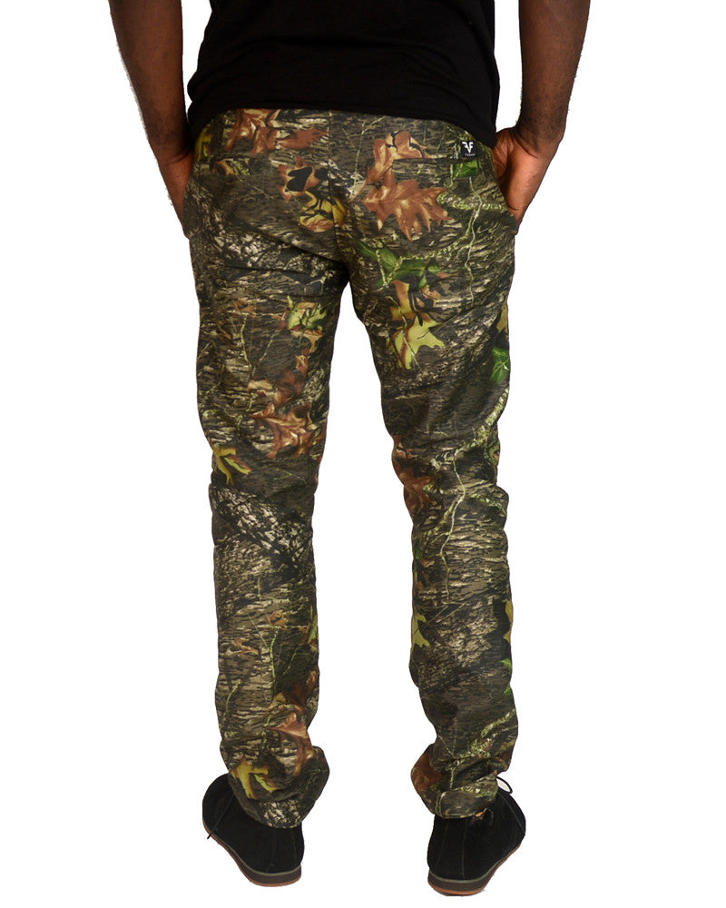 Patterned Jungle Green Pants