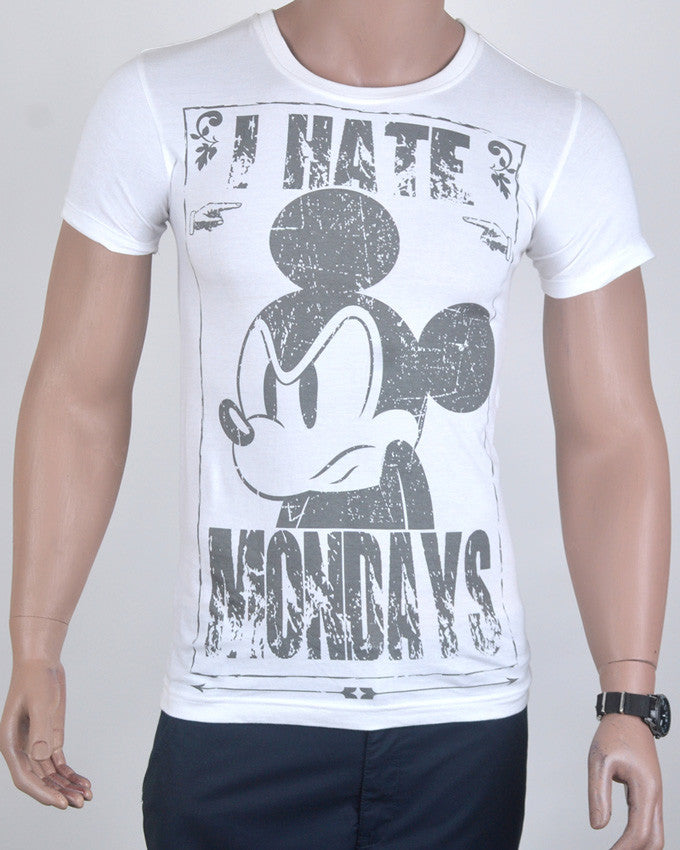 I Hate Mondays T-shirt - White - Small