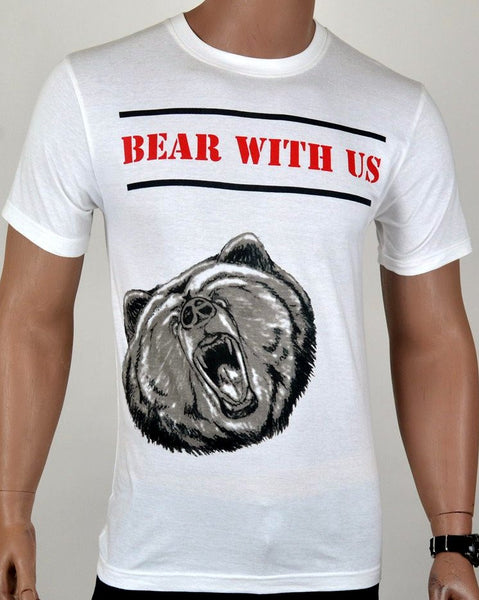 Bear With Us T-shirt - White - Medium