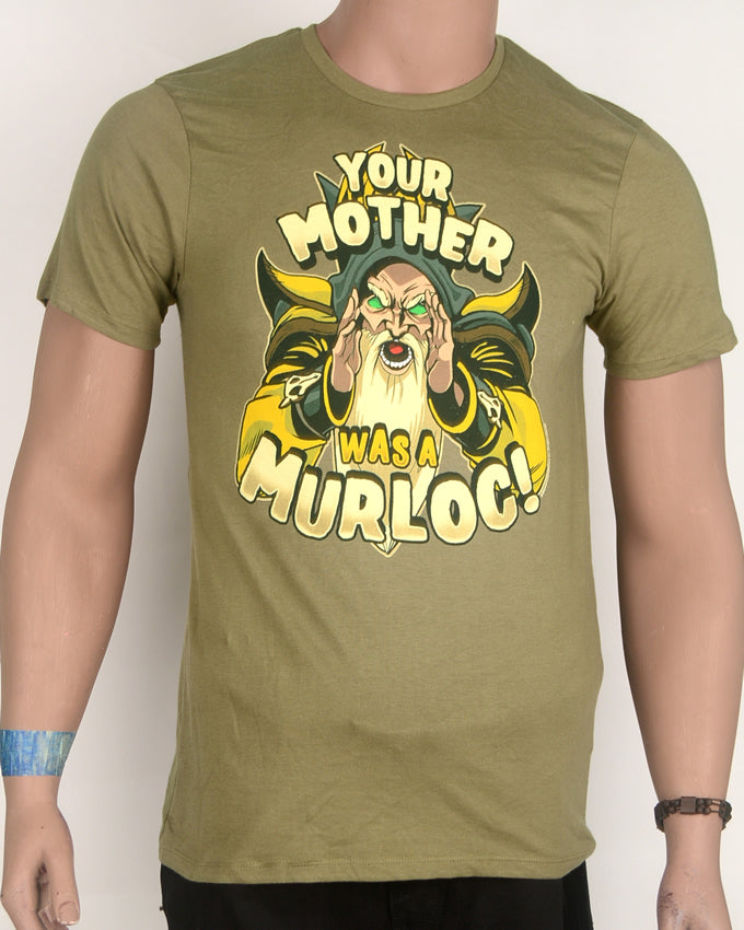 Your Mother Was A Murlok Green T-shirt - Small